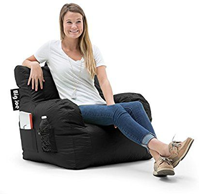 Incredible Amazon Com Big Joe Dorm Bean Bag Chair Stretch Limo Black Beatyapartments Chair Design Images Beatyapartmentscom