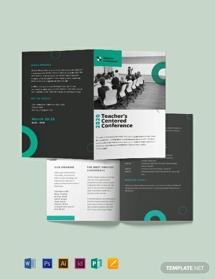 Conference Bi Fold Brochure Template Free Publisher Google Docs Illustrator Indesign Word Apple Pages Psd Template Net Brochure Design Template Bi Fold Brochure Brochure Template