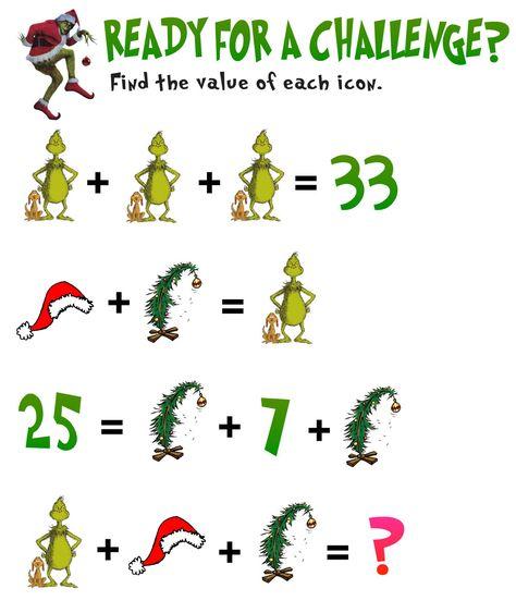 5 Awesome Christmas Math Activities for Grade — Mashup Math Maths Puzzles, Math Activities, Math Enrichment, Math Teacher, Math Classroom, Christmas Math Worksheets, Christmas Maths Activities, Math Talk, Math Challenge