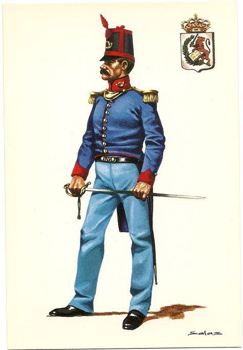 "Nº 16 Oficial del Rgto. de Infanteria de Linea ""CONSTITUCIÓN Nº 29 .-1812"
