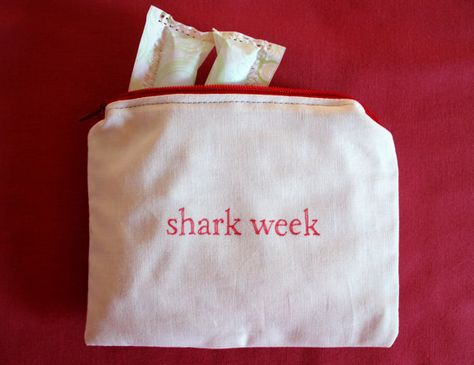 INdiscreet Zip Pouch for Feminine Products - shark week
