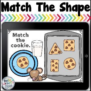 Match The Shape - Cookies Shape Activities Kindergarten, Preschool Charts, Preschool Schedule, Kindergarten Readiness, Classroom Activities, Preschool Activities, Book Activities, All About Me Preschool, Preschool Special Education