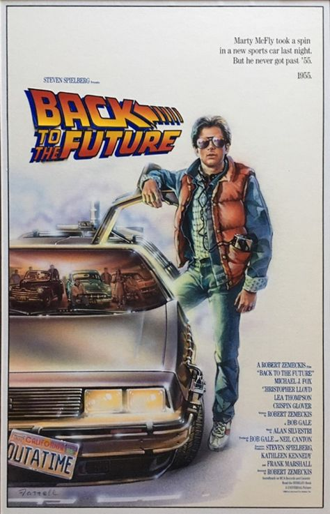 back to the future movie poster comp by richard farrell, in marcsans's movie art Comic Art Gallery Room