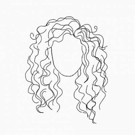48 Ideas Hair Curly Girl Drawing Paintings Line Art Drawings Art Drawings Drawings