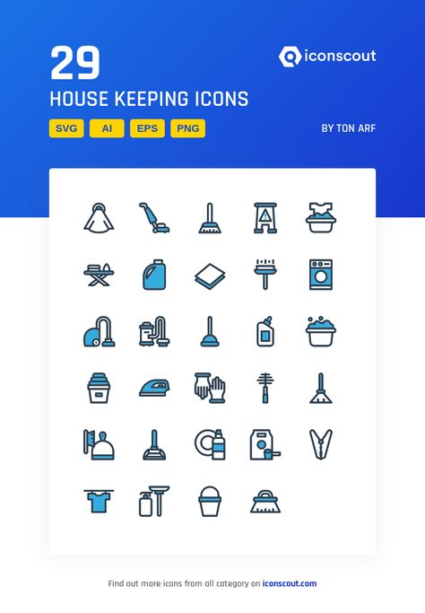 Download House Keeping Icon pack - Available in SVG, PNG, EPS, AI & Icon fonts