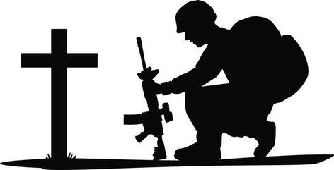 Pix For Soldier Kneeling In Prayer Soldier Silhouette Kneeling In Prayer Fallen Soldier Tattoo