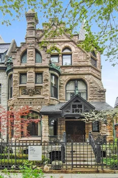 1886 Stone Mansion In Chicago Illinois Captivating Houses Stone Mansion Mansions Victorian Homes