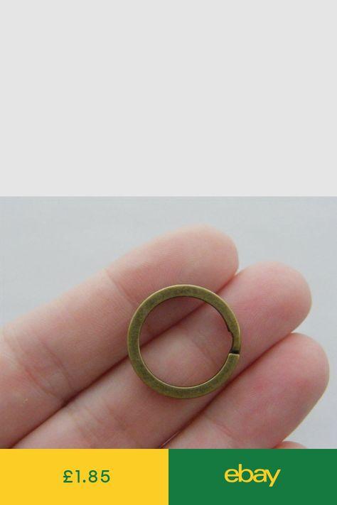 12 Key rings 20 x 2mm bronze tone FS376