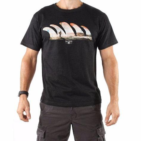 f932ff213364 Morning View - Men's Saltrock T-shirt - Dark Grey