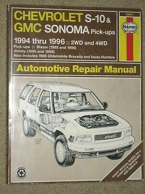 Advertisement Ebay Haynes 1994 96 Chevrolet Gmc S 10 S 15 Pickups Blazer Jimmy Bravada Hombre Chevrolet S 10 Chevrolet Gmc