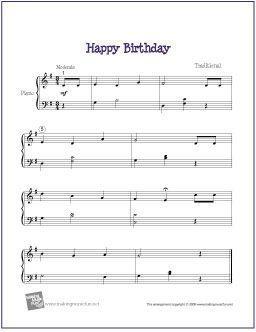 Happy Birthday Easy Piano Sheet Music