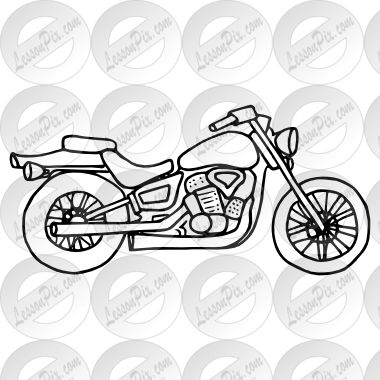Motorcycle Outline Art Motorcycle Tattoos Tattoo Outline