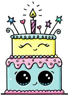 Pin by Grace Ponce on ArtDrawings Pinterest Cake Kawaii and Draw