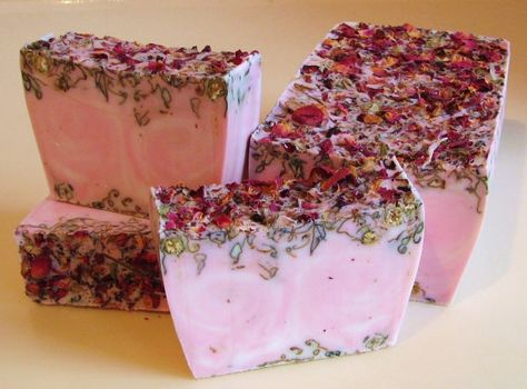 SOAP 3 lb. Perfect Rose Vegan Handmade Soap Loaf ♡ by soaploaves