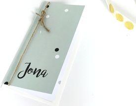 Geboortekaartje langwerpig staand Jona