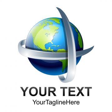 Abstract 3d World Globe Vector Illustration Tech Globe Logo Logotipo