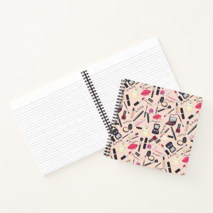Makeup Perfume Cosmetics Pattern Notebook  Pattern Sample Design