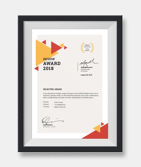 Certificate Template InDesign INDD
