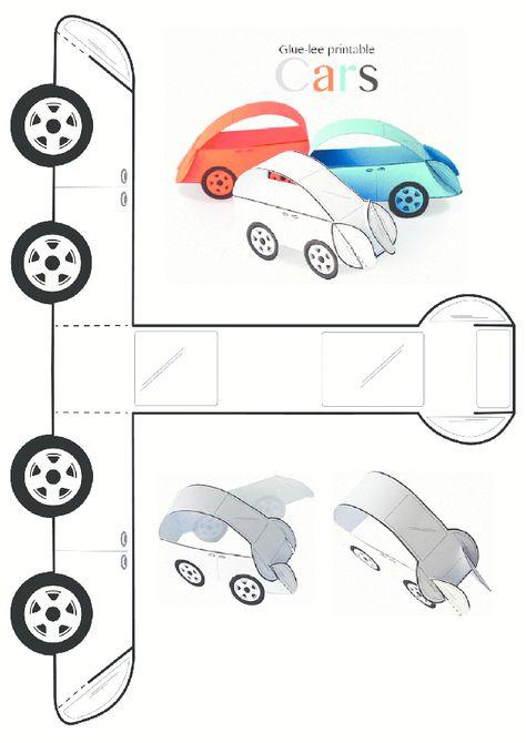 Araba Kalibi 3d Kartlari Boyama Sayfalari Ve Okul Oncesi
