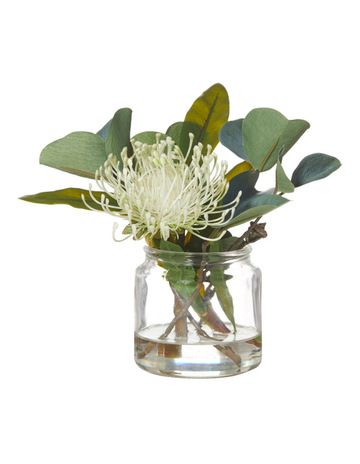 Rogue Pin Cushion Mix In Glass Jar Light Green 44x35x35cm Myer In 2020 Small Vases With Flowers Flower Vase Arrangements Large Floral Arrangements