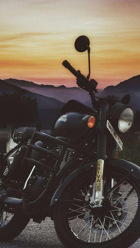 Royal Enfield Black Bike Iphone Wallpaper Royal Enfield