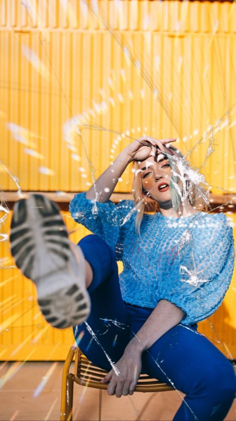 Get creative with shattered glass! #creative #getcreative #portrait #ootd