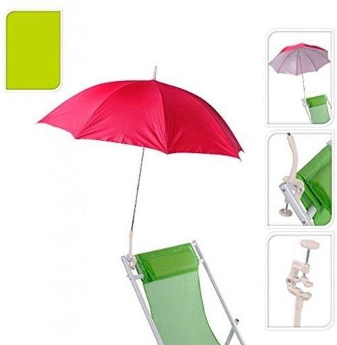 Umbrella Attach Beach Clip Chair Parasol Clamp Garden Deckchair Shade Sun Lounge