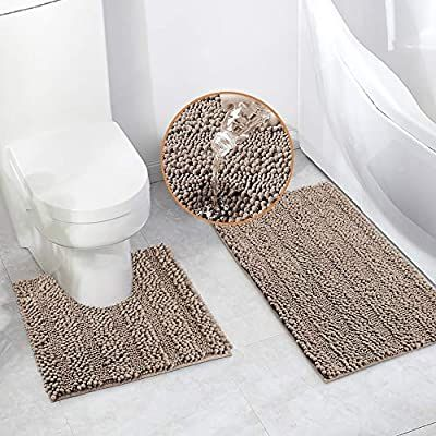 Amazon Com Bath Mats Set For Bathroom 2 Piece Dry Bath Rugs 20 X 20 U Shape Contour Rug 20 X 32 Bathroom Rug Machine In 2020 Bath Mat Sets Contour Rug Bathroom Rugs