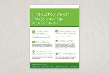 Financial Planning Services Flyer Template from Inkd #taxseason - workshop flyer template
