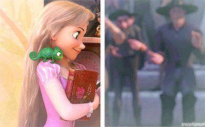 my gif tangled disney Rapunzel Flynn Rider Eugene Fitzherbert Disney Princess disney princesses Eugene Flynn walkthrough Disney Pixar, Disney Rapunzel, Rapunzel Flynn, Princesa Disney, Disney And Dreamworks, Disney Princess, Flynn Rider, Disney Love, Disney Magic