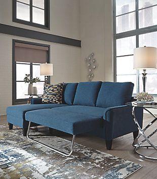 Jarreau Sofa Chaise Sleeper Blue Large Chaise Sofa Sofa Sectional Sofa Couch