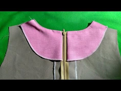 How To Sew A Neat Japanese Neck And Zipper Layer Youtube Sewing Techniques Sewing Basics Sewing Patterns