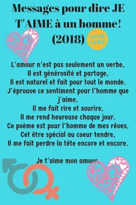 Sms Damour Pour Dire Je Taime à Un Homme 2019 Message