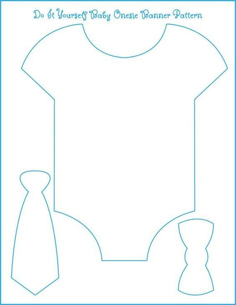Template for our onesie/bow tie banner. All we need is to find the perfect paper...