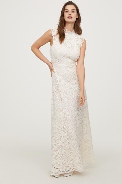 Long Lace Dress Cream Ladies H M Gb Lace Dress Long Bridal Dresses Lace Maxi Dress Wedding