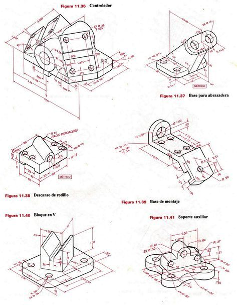 Ejercicio 4 Jpg 1248 1600 Autocad Isometric Drawing Technical Drawing Autocad Drawing