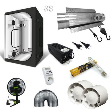 Pack Box G Max 150x150x200cm Cooltube Lampe Hps 600w Florastar Systeme De Ventilation Lampe Sodium Systeme D Eclairage