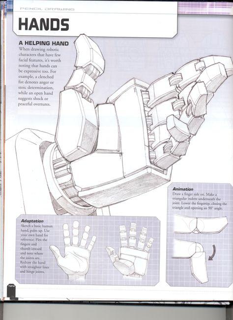 how to draw - Roboterhand Cyberpunk, Arte Robot, Robot Art, Drawing Lessons, Drawing Techniques, Transformers Drawing, Robots Drawing, How To Draw Robots, Robot Concept Art