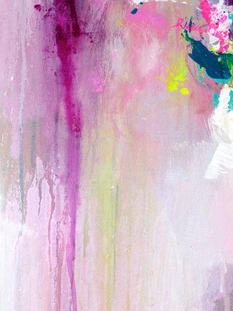2 Teile original abstrakte Malerei moderne Kunst Acrylbild