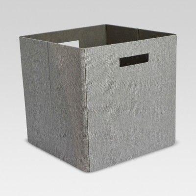 Fabric Cube Storage Bin Gray 13 Threshold Cube Storage Bins