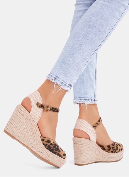 Deezee Espadryle Na Koturnie Fresh Leopard W Sklepie Deezee Pl Espadrilles Sandal Espadrille Wedge Espadrille