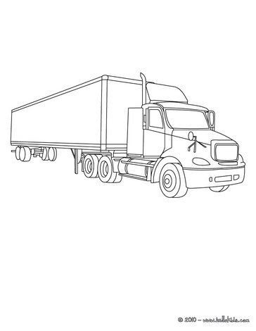 Truck And Trailer Coloring Pages Truck Coloring Page Truck Coloring Pages Cars Coloring Pages Coloring Pages