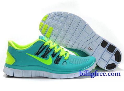 Billig Schuhe Damen Nike Free 5.0 + (Farbe:Vamp blau;Sohle