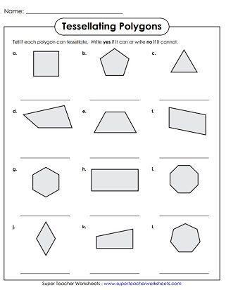 Tessellation Polygons Worksheet Tessallations 2nd