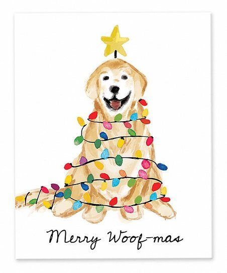 Designs Direct Creative Group Golden Christmas Tree Woof Mas Wrapped Canvas Zulily Unique Canvas Art Canvas Wall Art Designs Direct