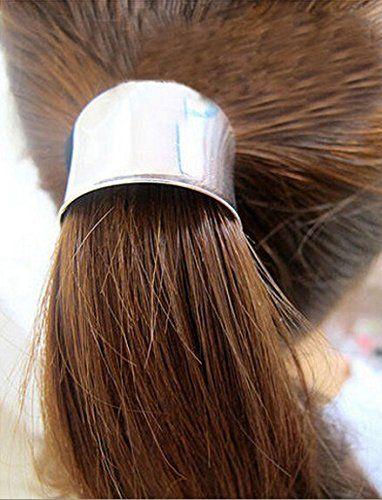 Tail Gift Holder Tie Gold Wrap Ponytail Hair Band Hair Metal Hair Hoop Band