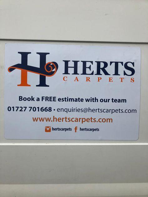 New Van Sign From St Albans Printers Carpets Flooring Lvt Laminate Engineeredwood Hertfordshire Bedfordshire Quality Carpets Hertfordshire Welwyn
