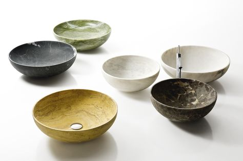 """Nabhi Bowl No. 4"" marble sinks by Kreoo"