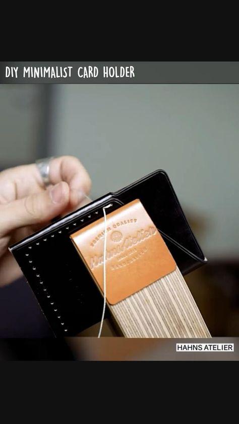 DIY MINIMALIST CARD HOLDER