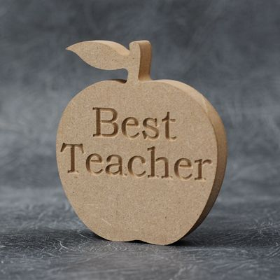 GIFT-HAND MADE FROM MDF APPLE SHAPE-FREESTANDING-DECORATIONS